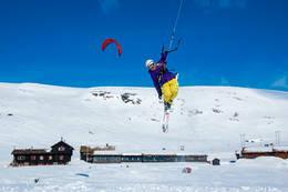 Kiting på Ståvatn - Foto: Ukjent