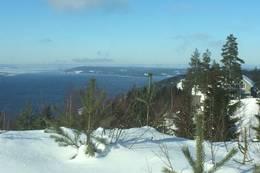 Fantastisk utsikt fra startpunktet i Mjøsli hytteområde -  Foto: Otto K. Blix Hulbak