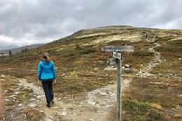 Ved foten av Åkrefjell, ta til venstre mot Øyvatn - Foto: Nesbyen  turistkontor