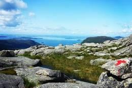 Moslifjellet sti med utsikt - Foto: Preikestolen fjellstue