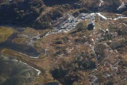 Grautheller sett fra luften - Foto: Kjell Herikstad