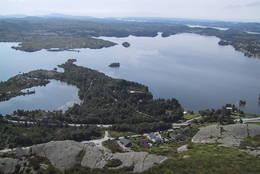 Utsikt sørover, Aksdalsvatnet - Foto: Torfinn Dommersnes