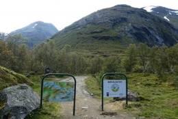 Ved parkeringsplassen på Bødalssetra - Foto: Bodil Dybevoll