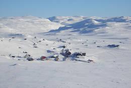 Utsikt fra Lille Finsenut mot Finse - Foto: Finse 1222