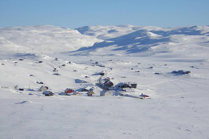 Utsikt fra Lille Finsenut mot Finse
