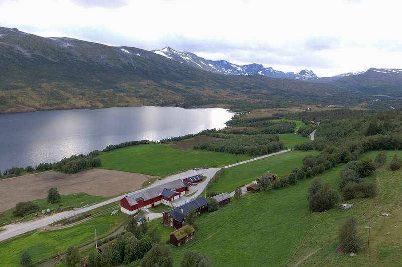 Dronebilde over Bårdsgarden