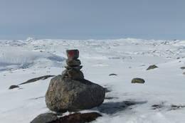 Avblåst i høyden får fram sommerløypa. her med utsikt mot Napen til venstre og Såta til høyre på ruten mellom Hovatn og Vassdalstjørn.  - Foto: Stein Arne Pallesen