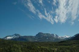 Utsikt mot Okstindane - Foto: Helle Andresen