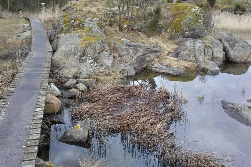 Sandøya byr på varierte stier