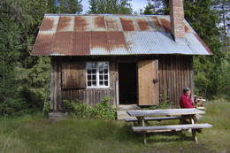 ubetjent hytte, Grue Finnskog, Finnskogen Turistforening -  Foto: Åsmund Skasdammen