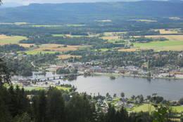 Viksrsund sett fra første utsiktpunkt.  - Foto: Hilde Roland