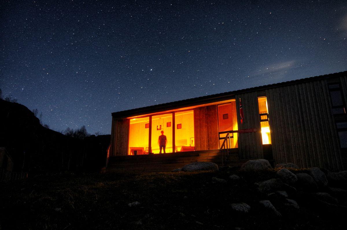 Kvitlen Stjernehimmelen ein fin vinternatt