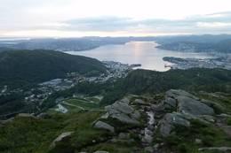Solnedgang fra Løvstakken -  Foto: Lars Thomas Sønningdal