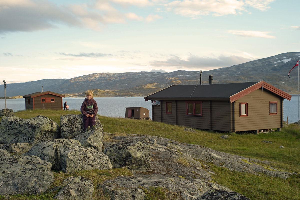 Odin Holmberg har tatt turen til Gautelishytta en vakker sommerdag