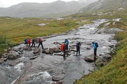 Tur fra Finnabotn i Vik til Solrenningshytten i St¿lsheimen. - Foto: Einar J. Grieg
