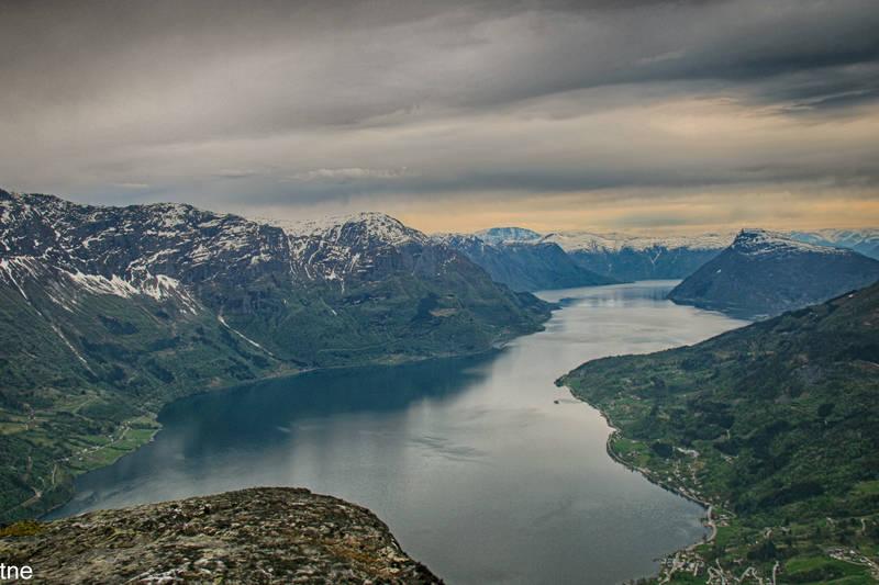 Utsikt fra Børesteinen