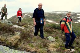 På vei i flott fjellterreng -  Foto: Arne Berg