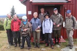 Godlidalshytta. Fra en HHT-tur høsten 2010. Vertskapet Eva og Hans tar hjertelig imot - Foto: Ingrid Nilsen?