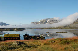 Haukeliseter en sommermorgen -  Foto: Haukeliseter fjellstue