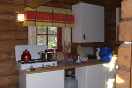 Enkelt men funksjonelt kjøkken på Fjellhob - Foto: Nord-Trøndelag Turistforening