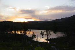 Kveldsstemning over Stabbursfjellvatnet - Foto: Berit Irgens