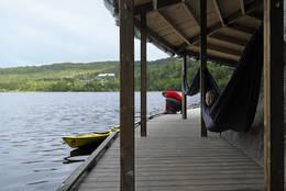 Vann Camp for grupper tilbys det tilrettelagt overnatting i vannkanten - Foto: Dag Knudsen