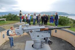 Kanonstilling på Hysnes Fort. - Foto: Asgeir  Våg