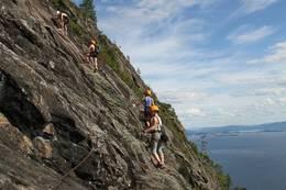 Fin klatring i Zebraveggen - Foto: Ukjent
