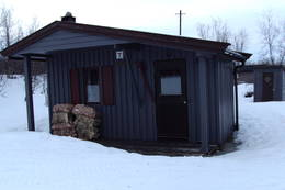 Bojobæskihytta i vinterprakt - Foto: Jens Åge Suhr