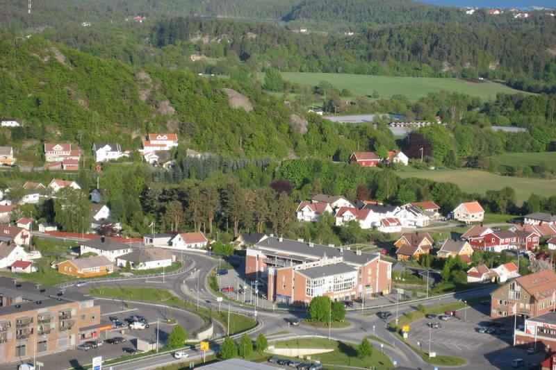 Utsikt mot Klepland og Tofteland