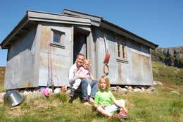 Heiberghytta. Perfekt hytte for en familie på fire. - Foto: Mona Winge