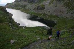 Ved Stropastølsvatnet, på tilbaketur -  Foto: Oddleiv Vik