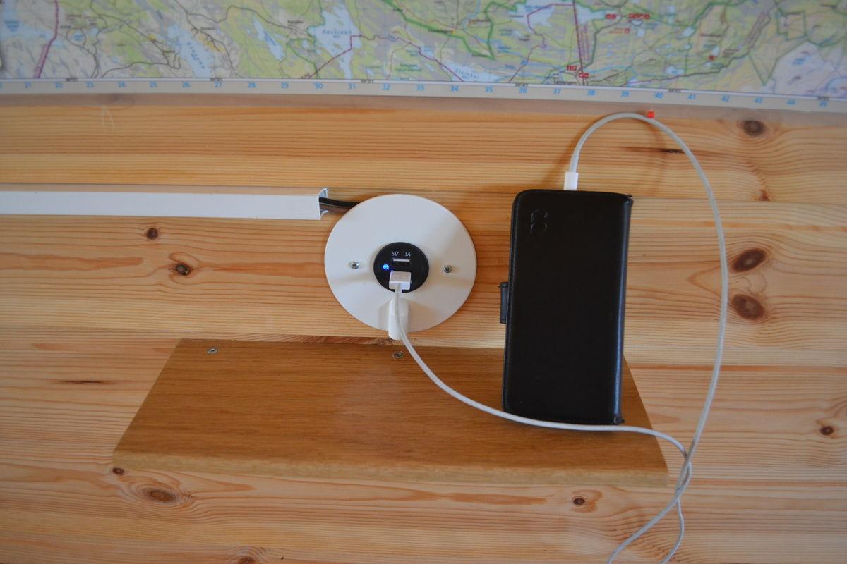 Mobillader på Vestfjellhytta