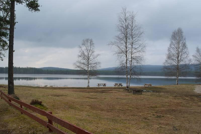 Badeplass ved Søråssjøen