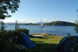 Det er flotte teltmuligheter på Langøyene. -  Foto: Oslofjordens Friluftsråd