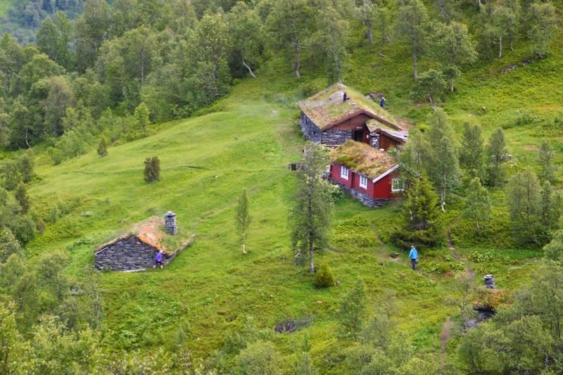 Vollasetra med Eldhuset, Fjøset, Selet og Øyabua