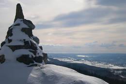 Blåfjell (454 moh) i Østmarka i Skien. -  Foto: Roger Gundersen