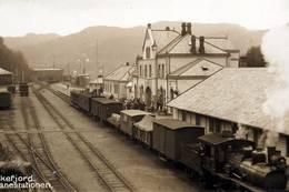 Flekkefjord jernbanestasjon - Foto: Ukjent