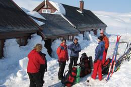 Ved hytta påsken 2007 - Foto: Ellen Næsje