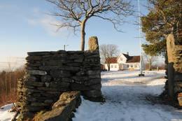Byhaugen i vinterdrakt.  - Foto: Kjell Helle-Olsen