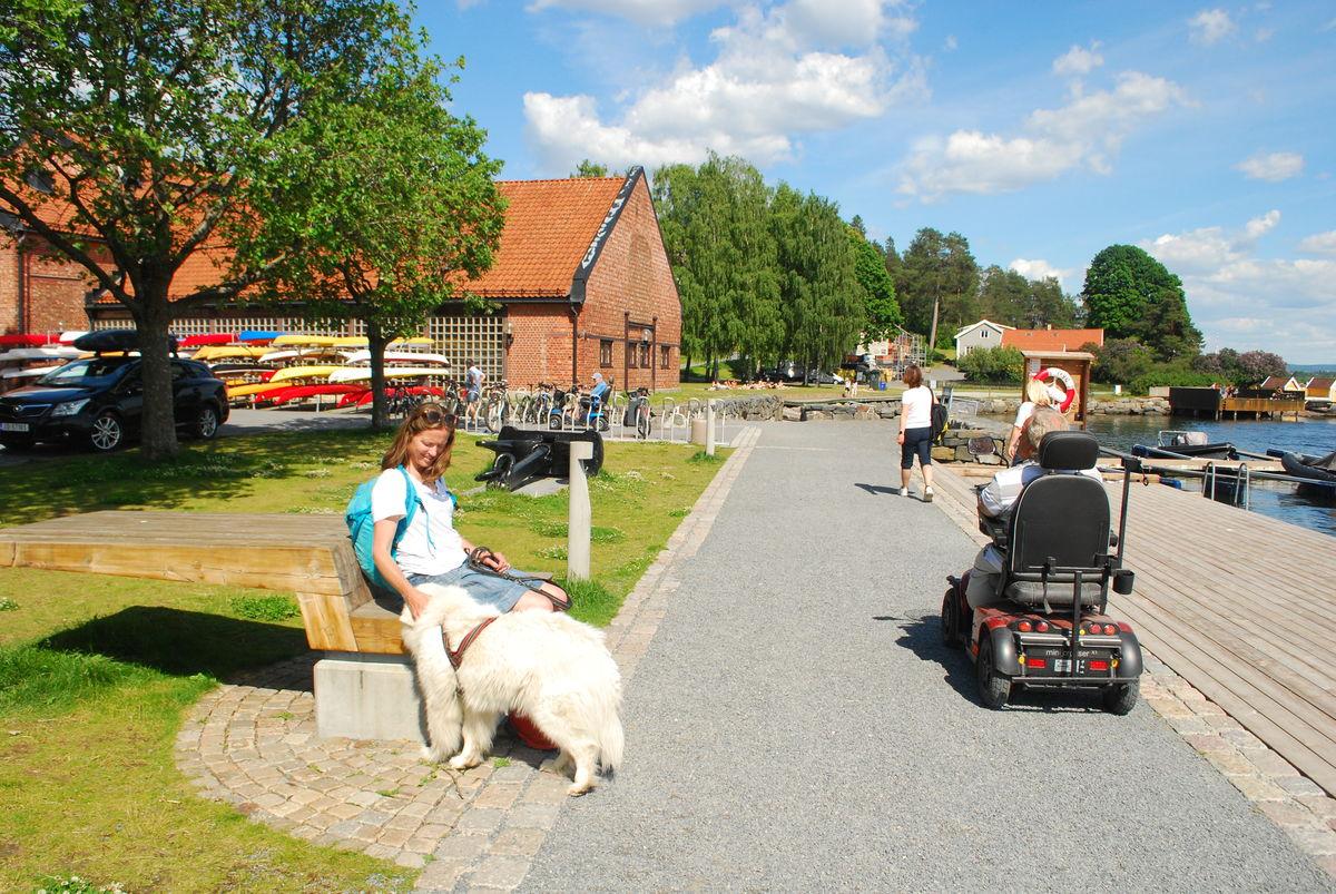 Om sommeren er Veritasparken og brygga populær, og mange kommer hit for bading, båtliv og kajakkpadling.