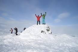 På toppen av Suletinden -  Foto: Gro Skjelle Fimreite