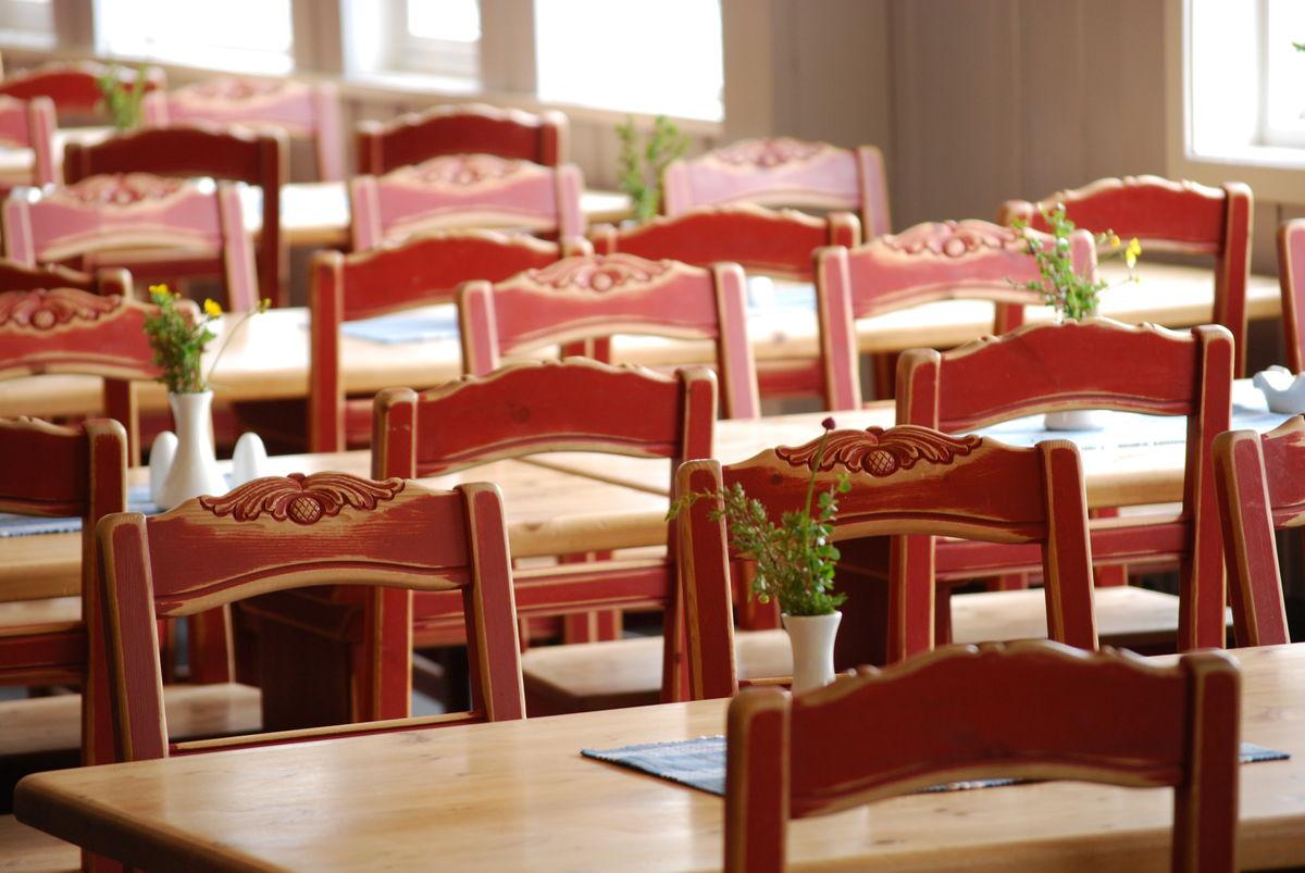 Spisesalen på Gjendesheim.