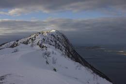 Ryggen over mot høyeste punkt 360 moh - Foto: Paul Fortun