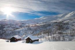 Flott turområde med fjellski på beina - Foto: Yngve Nordskag