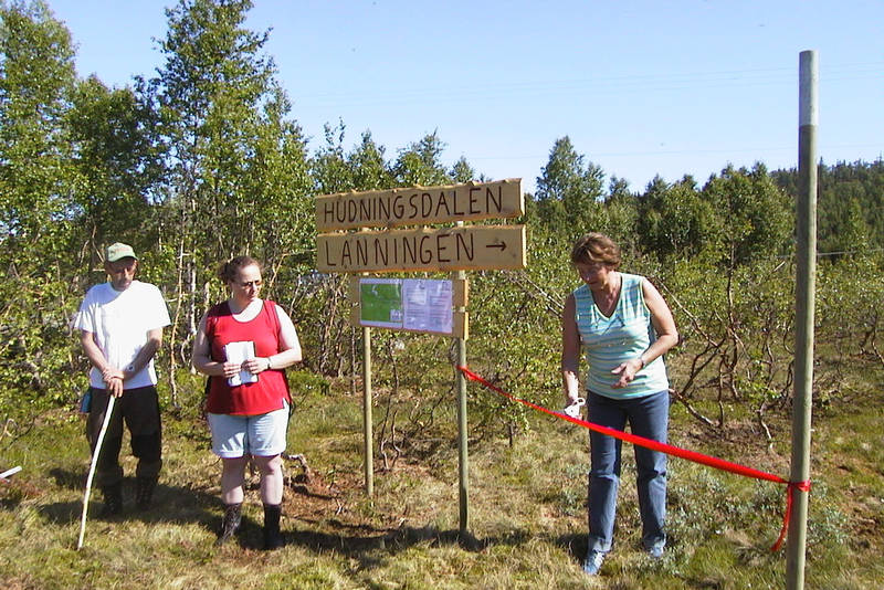 Ved startpunktet i Røyrvik Sentrum