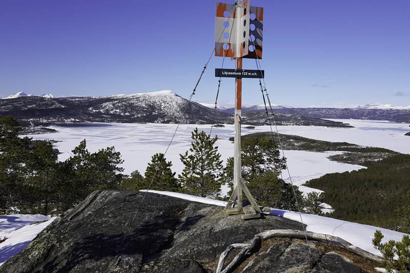 """Toppen av Litjvasstuva med klippetanga for """"Ti på topp 2019"""""""