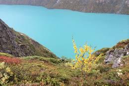 Flott utsikt mot Gjendevannet - Foto: Linda Lyby