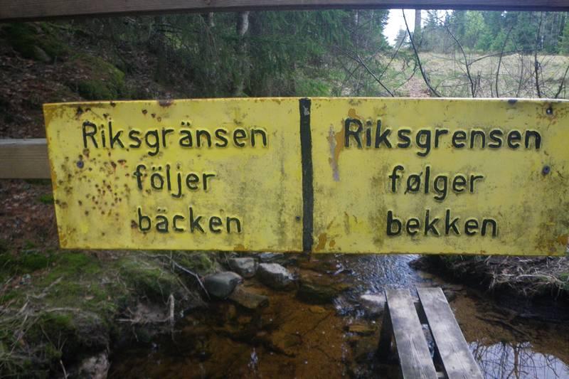 Grensen mellom Norge og Sverige ved Budalsvika.