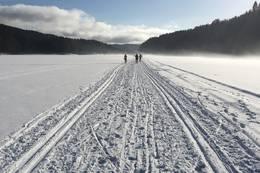 Skisporet over Nøklevann er fantastisk for klassisk trening -  Foto: Øyvind Nordhagen